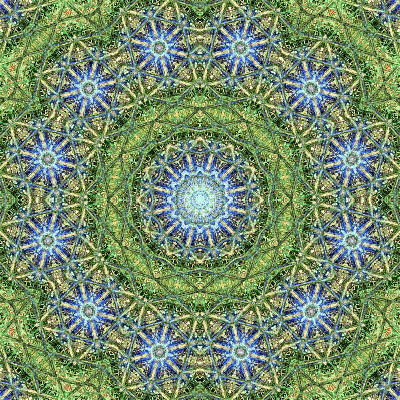 Fundo calidoscópico floral colorido da imagem do teste padrão abstrato circular da mandala ilustração stock