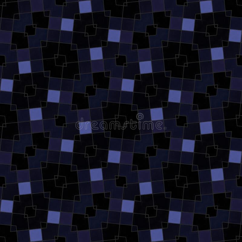 Fundo capaz da telha calidoscópico oblíqua escura do mosaico ilustração stock