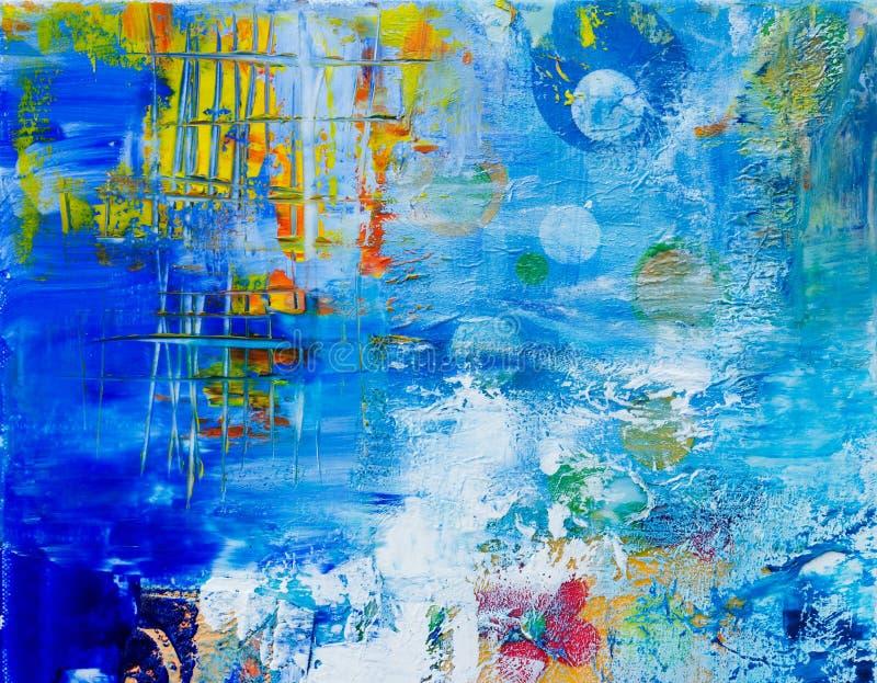 Fundo causado dor abstrato azul ilustração do vetor