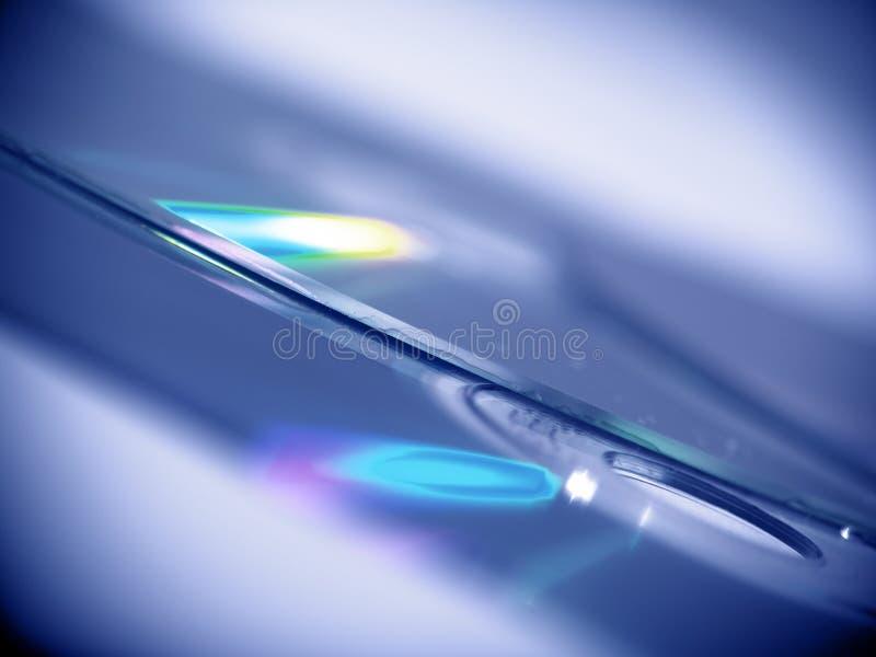 Fundo CD azul imagens de stock
