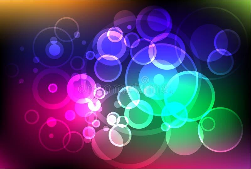 Fundo celestial de brilho das luzes ilustração stock