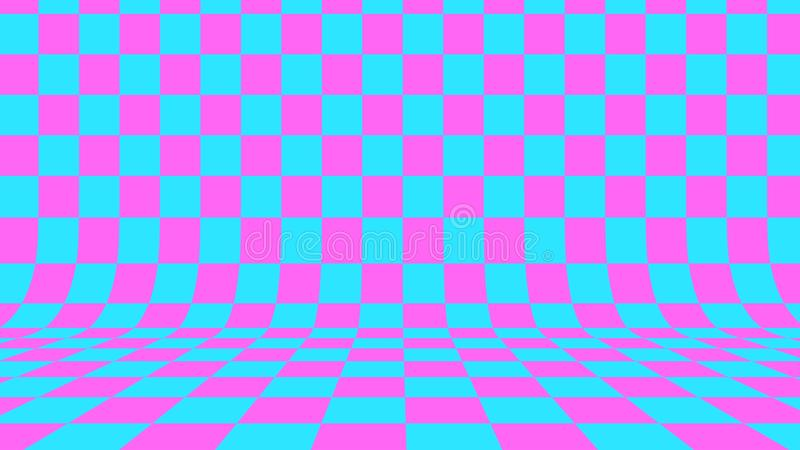 Fundo checkered abstrato 3d rendem ilustração royalty free