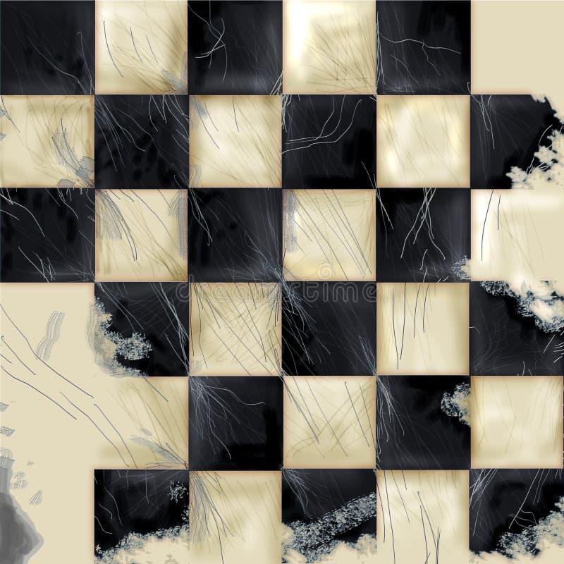Fundo Checkered de Grunge ilustração royalty free