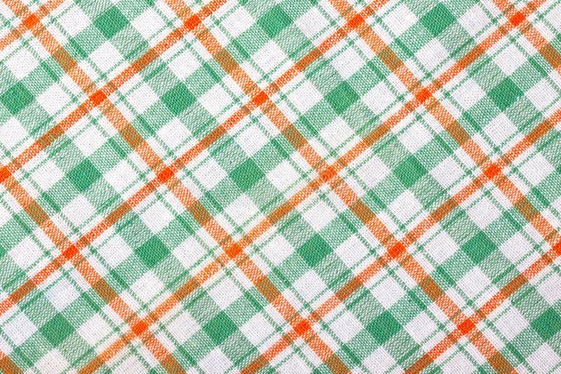 Fundo Checkered de matéria têxtil foto de stock