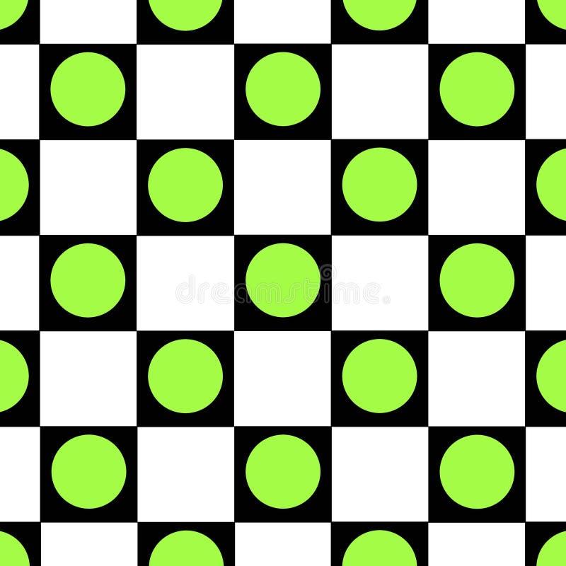 Fundo checkered do ponto verde imagem de stock royalty free