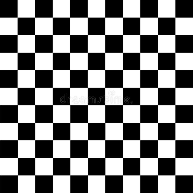 Fundo checkered preto e branco ilustração royalty free