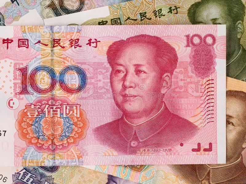 Fundo chinês da moeda do yuan, close up do dinheiro de China fotos de stock royalty free