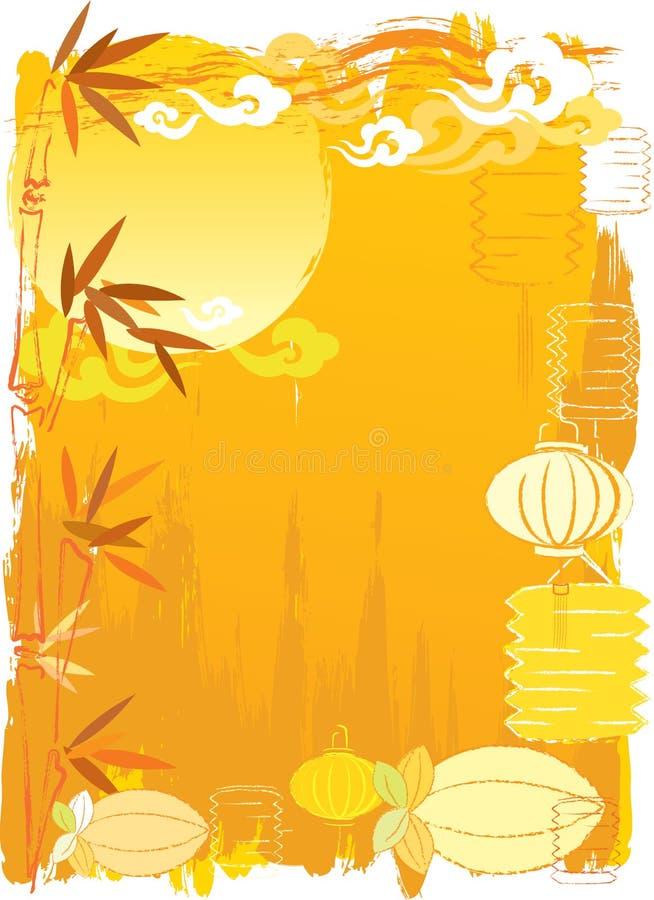 Fundo chinês do festival do Meados de-Outono ilustração royalty free