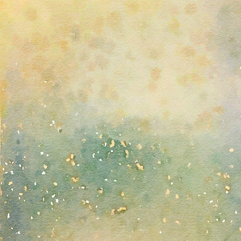 Fundo chique gasto sujo da terra da textura da aquarela fotografia de stock royalty free