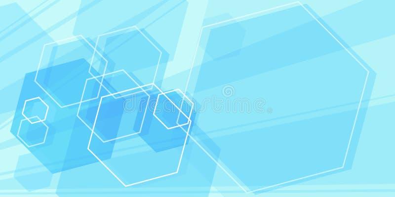 Fundo científico azul ilustração royalty free