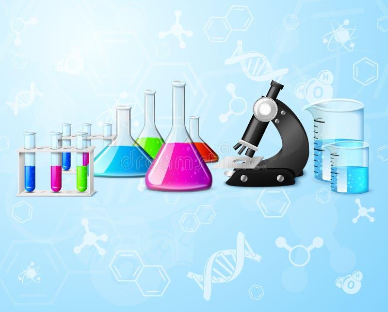 Fundo científico do laboratório ilustração do vetor