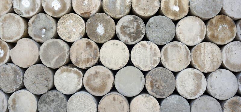Fundo cilíndrico da textura das pedras imagens de stock royalty free