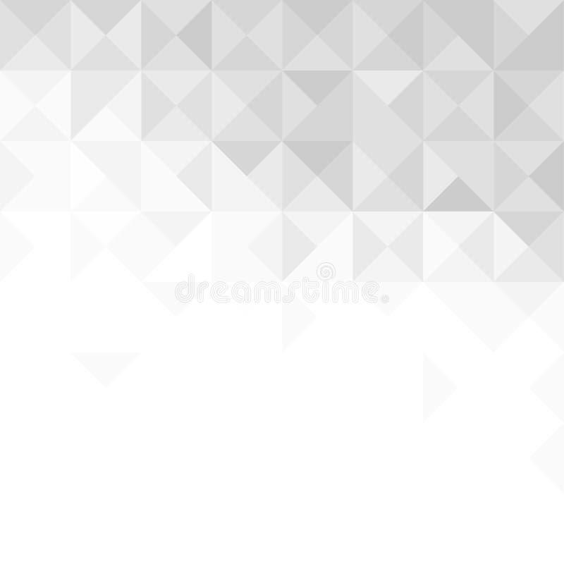 Fundo cinzento abstrato com triângulos e linhas ilustração do vetor