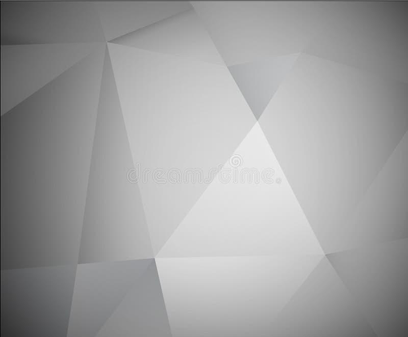 Fundo cinzento abstrato do vetor 3d ilustração stock