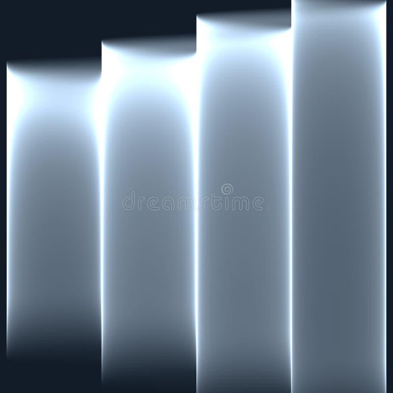 Fundo cinzento abstrato Listras cinzentas brilhantes Teste padrão geométrico em cores cinzentas ilustração do vetor