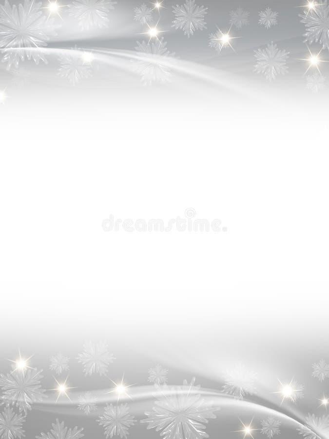 Fundo cinzento branco do Natal ilustração stock