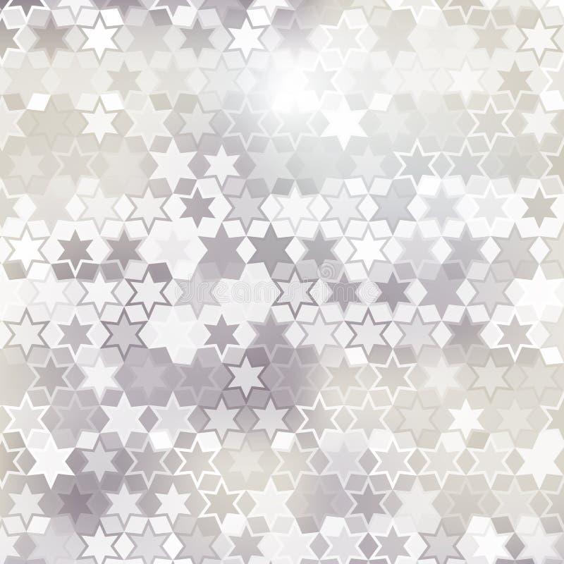 Fundo cinzento da estrela ilustração stock