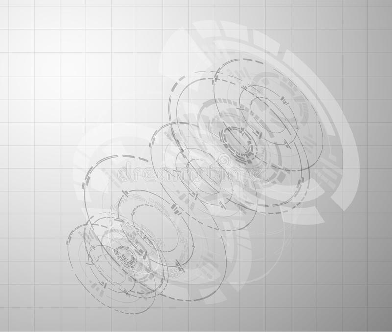 Fundo cinzento da tecnologia Vetor eps10 ilustração royalty free