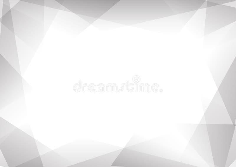 Fundo cinzento e branco do sumário de prisma ilustração royalty free