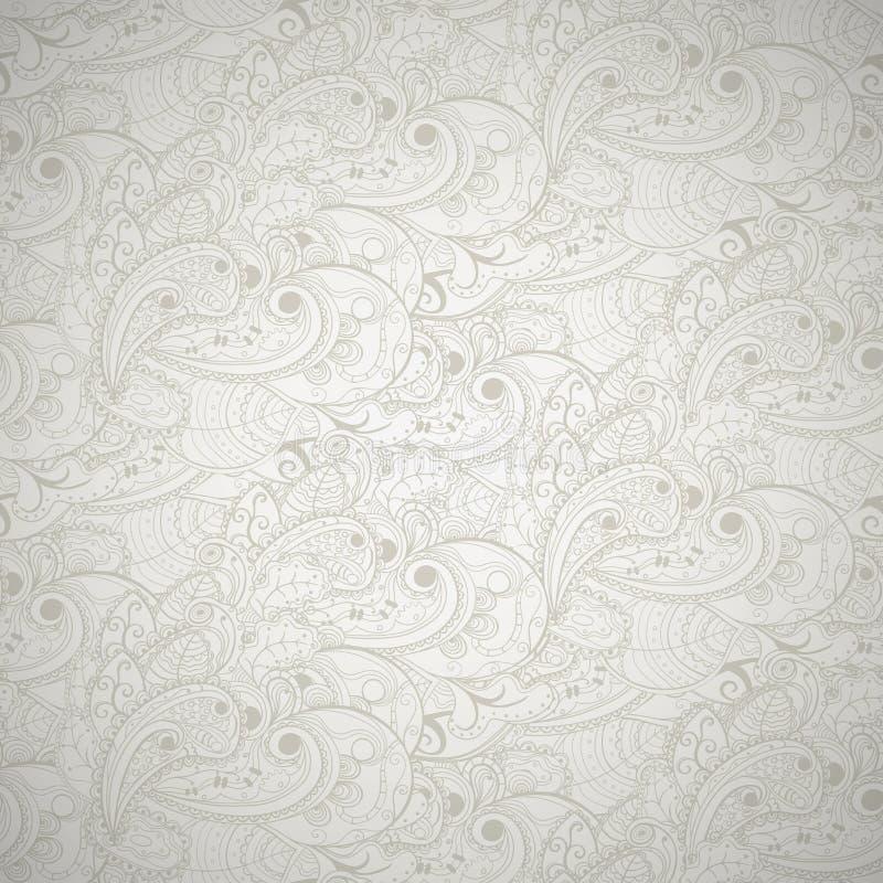 Fundo cinzento sem emenda floral. ilustração do vetor