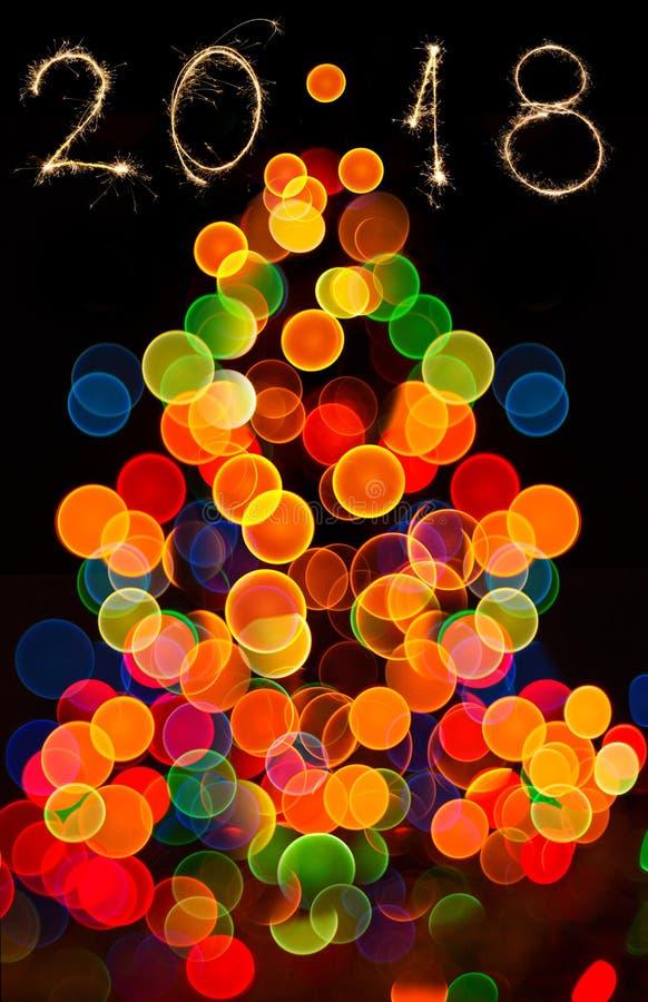 Fundo circular abstrato do bokeh de Christmaslight fotos de stock