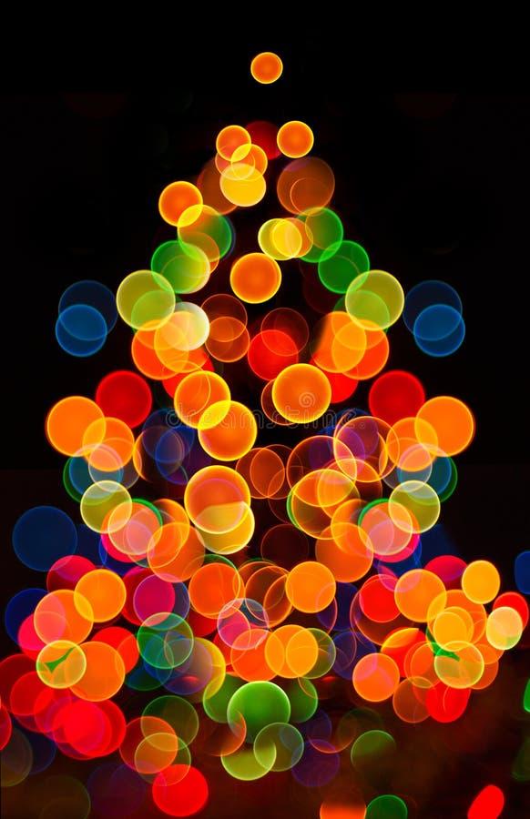 Fundo circular abstrato do bokeh de Christmaslight foto de stock