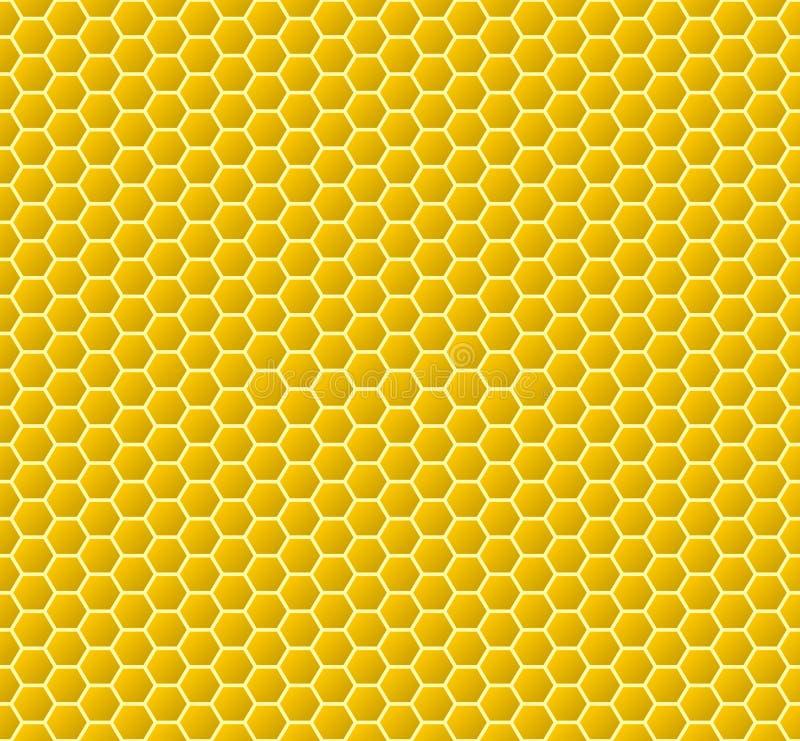 Fundo circular do favo de mel Teste padrão sem emenda Ilustração do vetor ilustração royalty free