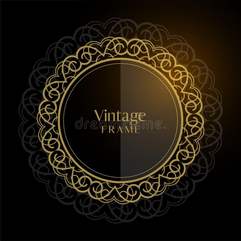 Fundo circular do quadro do vintage luxuoso ilustração stock