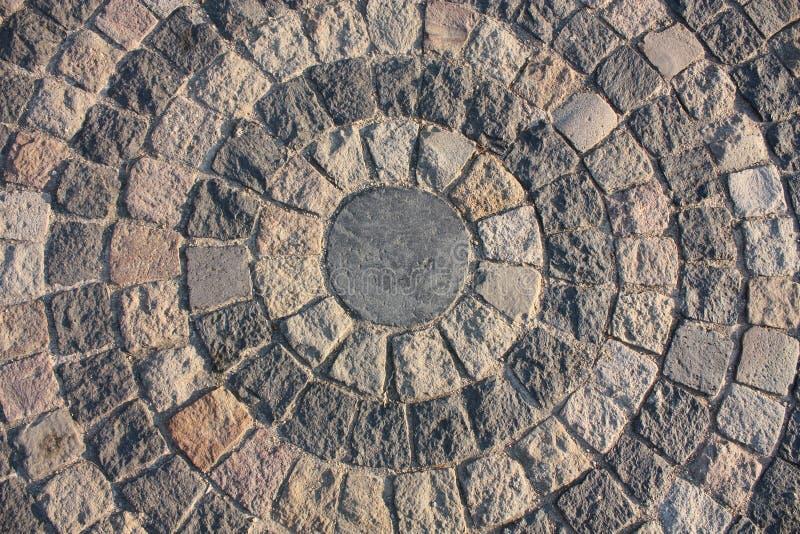 Fundo circular. Fundo de pedra imagens de stock