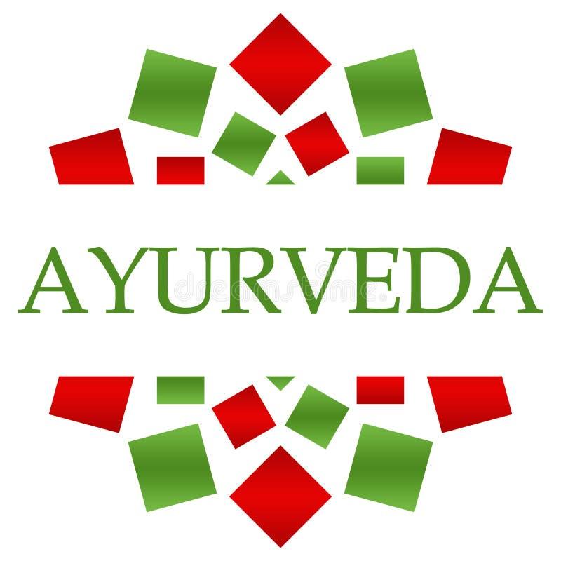 Fundo circular verde vermelho de Ayurveda ilustração royalty free