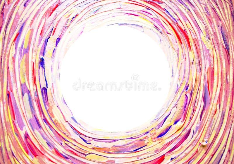 Fundo claro abstrato Concêntrica, espiral, torcendo, a escova de giro afaga linhas com espaço para seu texto ilustração royalty free