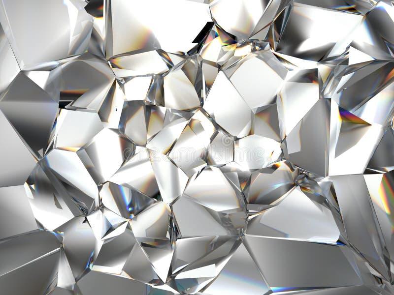 Fundo claro abstrato do cristal ilustração do vetor