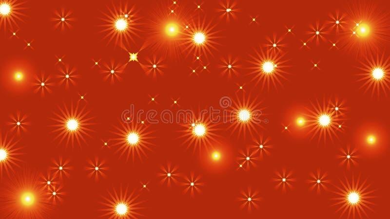 Fundo claro abstrato preto com as estrelas brilhantes coloridas glittery do bokeh ilustração do vetor