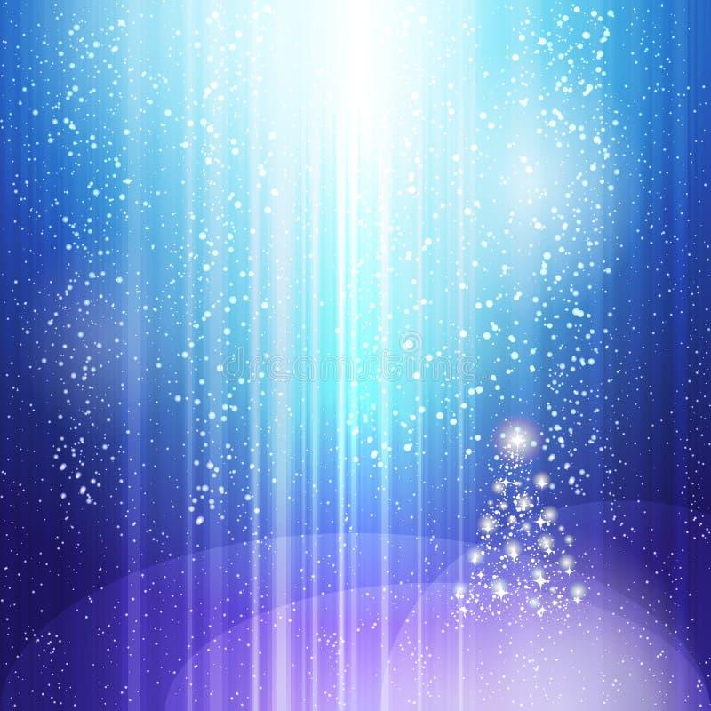 Fundo claro azul do Natal ilustração royalty free