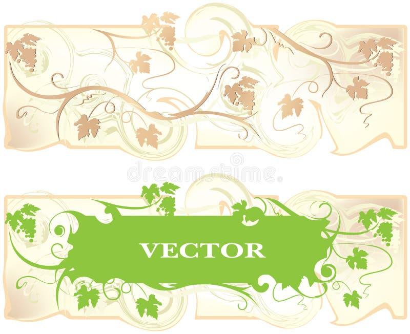Fundo claro com uma uva da videira ilustração do vetor
