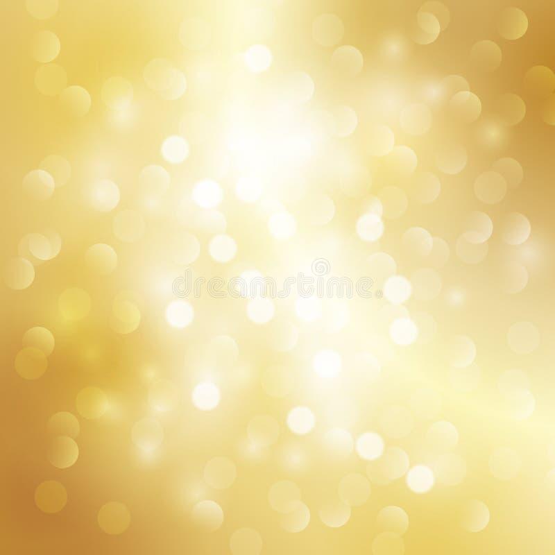Fundo claro do ouro ilustração royalty free