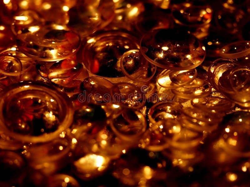 Fundo claro dourado abstrato imagens de stock