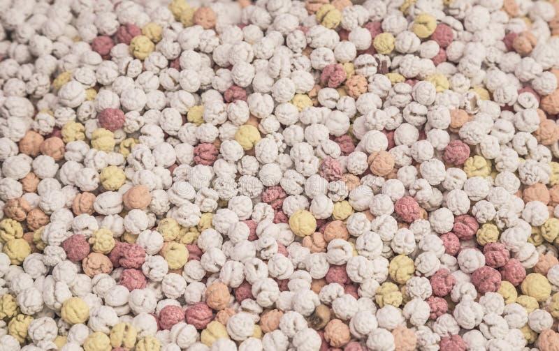 Fundo coberto de açúcar dos grãos-de-bico imagem de stock royalty free