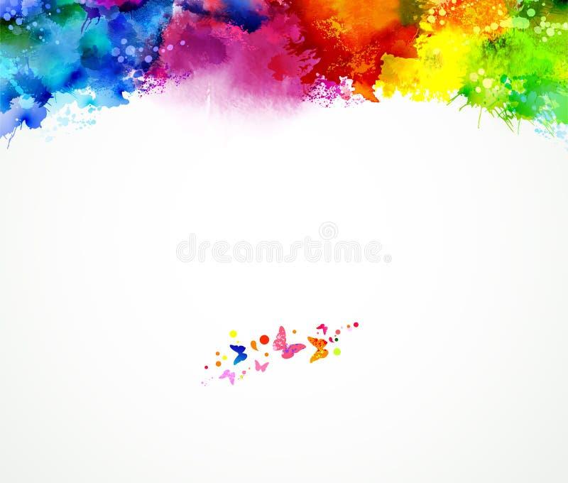 Fundo colorido ilustração stock