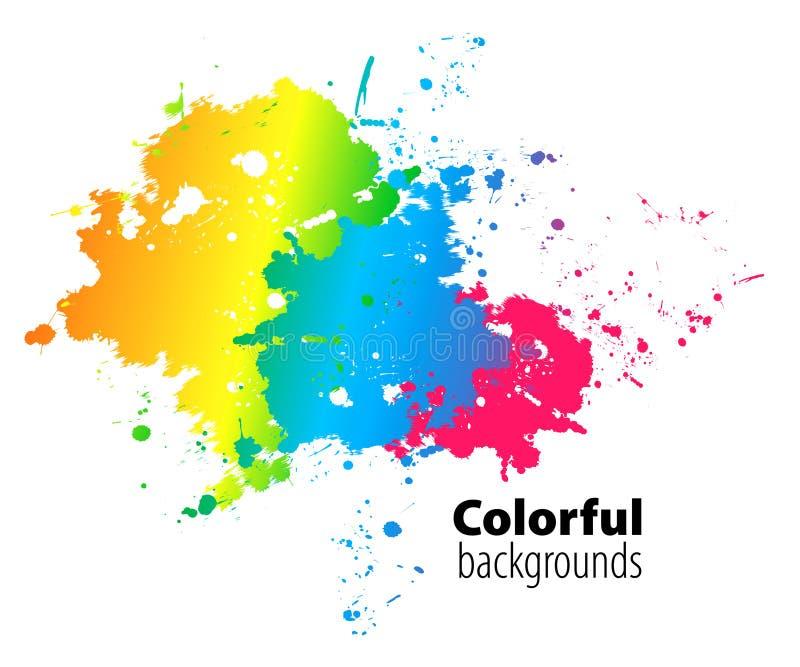 Fundo colorido abstrato ilustração stock