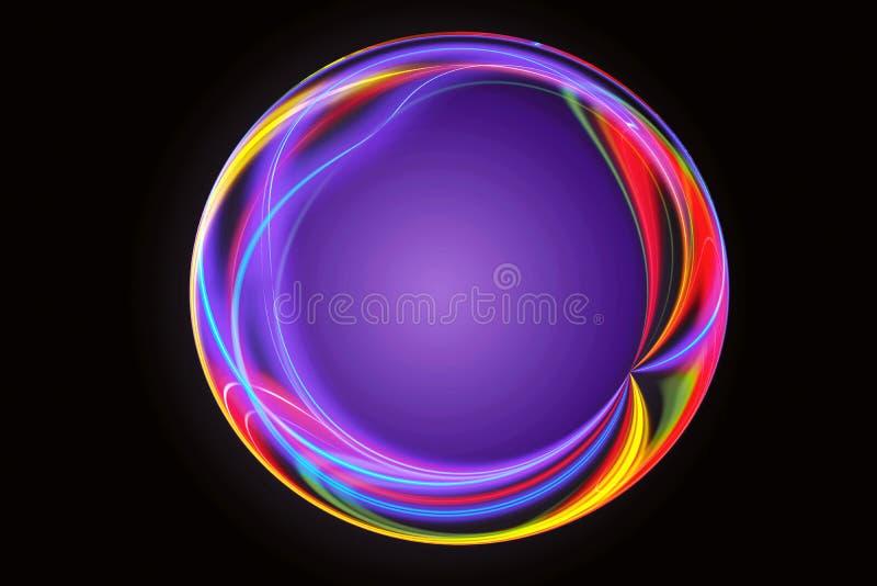 Fundo colorido abstrato artístico da arte finala do círculo da energia ilustração royalty free