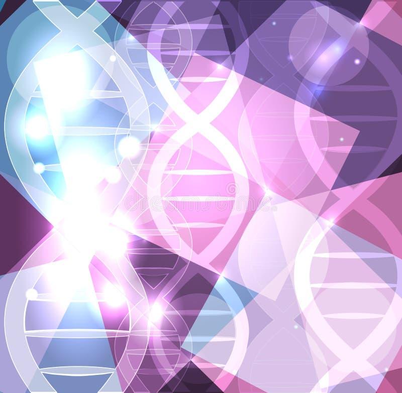 Fundo colorido abstrato chain do ADN ilustração royalty free