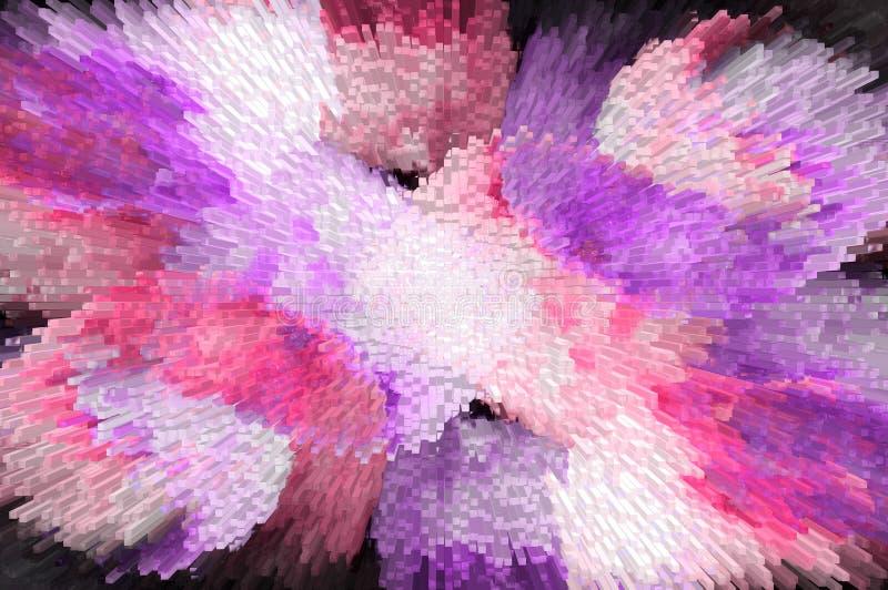 fundo colorido abstrato com efeito da extrusão ilustração royalty free