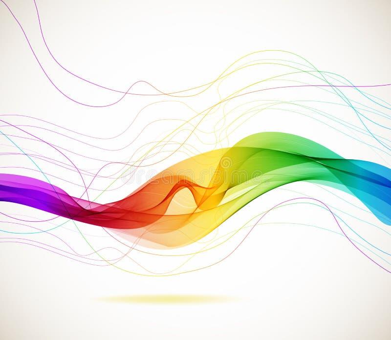 Fundo colorido abstrato com onda ilustração royalty free