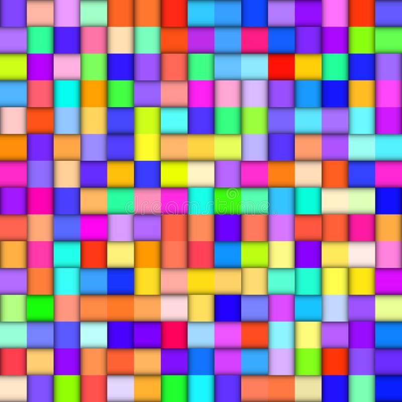 Fundo colorido abstrato com quadrados ilustração do vetor