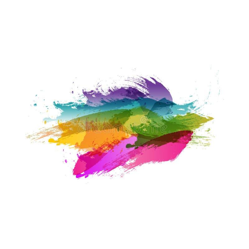 Fundo colorido abstrato Cores do respingo ilustração do vetor