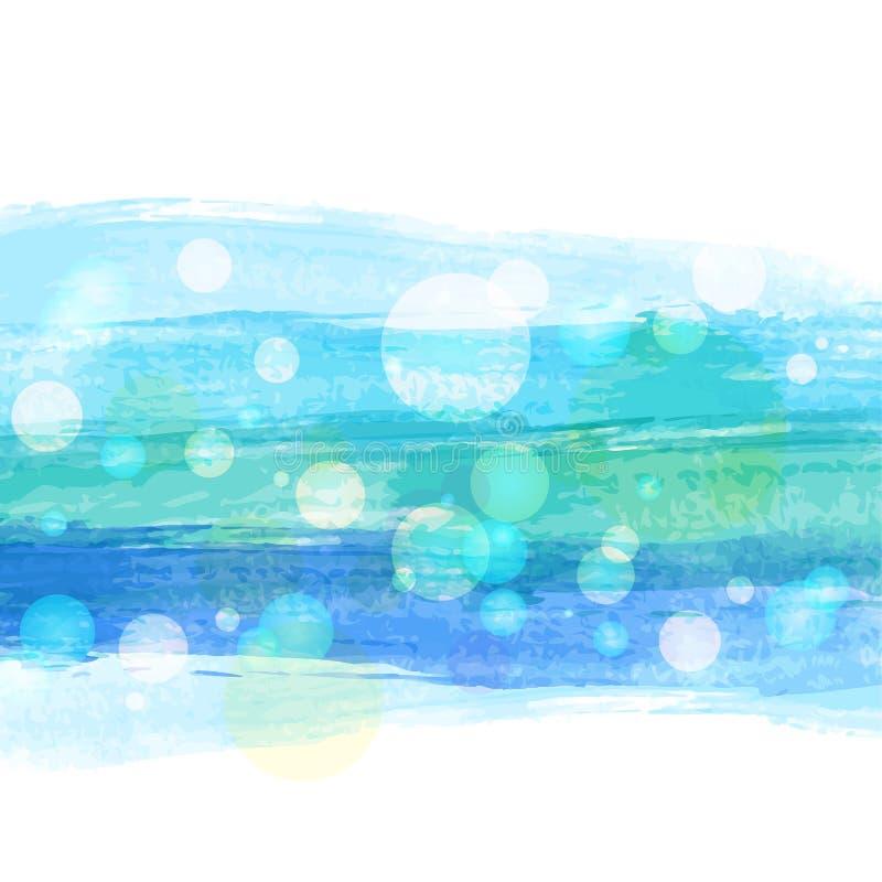 Fundo colorido abstrato da listra da aquarela Illustrat do vetor ilustração royalty free