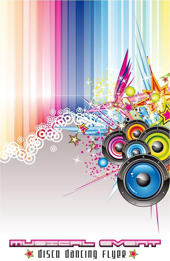Fundo colorido abstrato da música ilustração stock