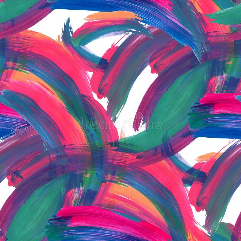 Fundo colorido abstrato das pinceladas ilustração royalty free