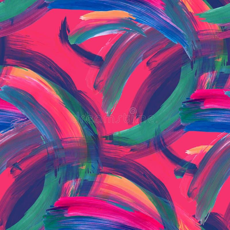 Fundo colorido abstrato das pinceladas ilustração do vetor